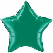 "20""/51cm - Emerald Green Star - #12625"