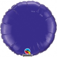 "18""/45 cm - Quartz Purple Foil Round - #12922"