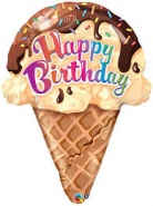27''/69cm Birthday ice Cream Cone - #16400