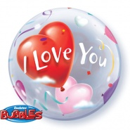 "22""/56 cm - I love You Heart Balloons - #16676"