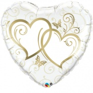 36/91 cm Entwined Hearts Gold - #17244