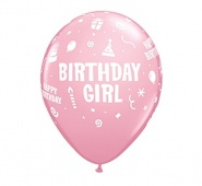 "11""/28 cm - Birthday Girl - 6 szt - #17921"