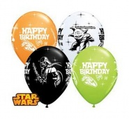 "11""/28 cm/ STAR WARS Happy Birthday - 25 szt - #18669"