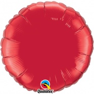 "18""/45 cm - Ruby Red Foil Round - #22634"