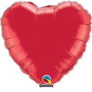 "18""/45 cm - Ruby Red Heart - #23769"