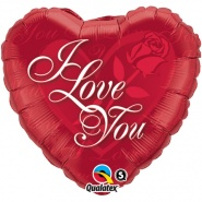 "18""/46 cm - I Love You Red Rose - #24289"