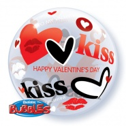"22""/56 cm - Valentine's Kisses & Hearts - #27539"