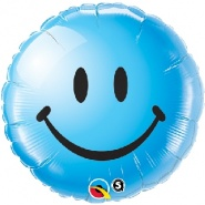 "18""/46 cm - Smiley Face Blue - #29640"