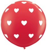 3'/91cm Big Hearts Red - 1 szt - #31089