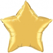 36″/91cm - Metallic Gold Star - #36498