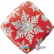 "18""/46cm - Snowflake Sparkles Red - #40093"