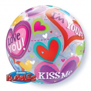 "22""/56 cm - Be Mine Valentine Hearts - #40095"