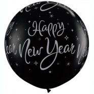 3'/91cm New Year Black/White - 1 szt - #40192