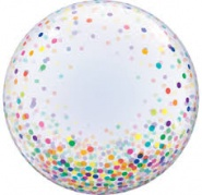 24''/61 cm Colourful Confetti Dots - #57791