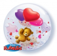 "22""/56 cm - Teddy Bear's Floating Hearts"