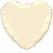 "18""/45 cm - Pearl Ivory Heart - #99347"