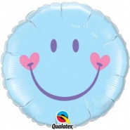 "18""/46 cm - Sweet Smile Face Pale Blue - #99576"
