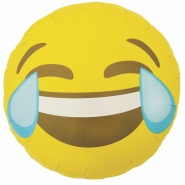 "18""/45cm Emoji Crying Laughing Round"