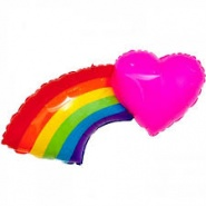 43''/109 cm MIGHTY HEART RAINBOW - #35014WE