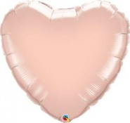 18''/45cm Rose Gold Heart #57047
