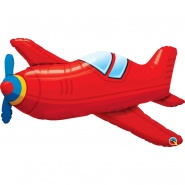 36''/91 cm RED VINTAGE AIRPLANE