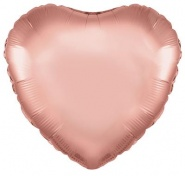 36''/91 CM ROSE GOLD HEART - #57051