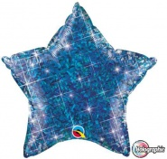 "20""/51cm - Holographic Blue Star - #41282"