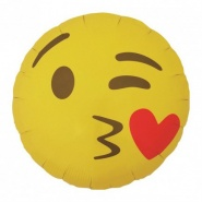 "18""/45cm Emoji Kissing Heart Round"