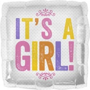 18'/45 CM ITS A GIRL BLOCK LETTERS