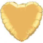 "36""/90 cm - Metallic Gold Heart - #78451"