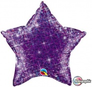 "20""/51cm - Holographic Purple Star - #41306"