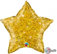 "20""/51cm - Holographic Yellow Star - #41273"